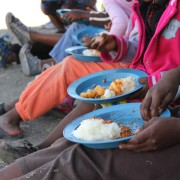 Children eating at Freedom Park OVC centre (South Africa)