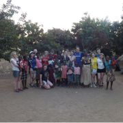 SERVE Volunteer group meeting the community near Luyando farm (Zambia)