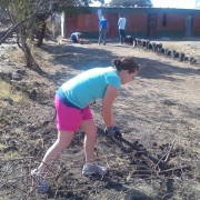 Claire - digging for gold! (South Africa)