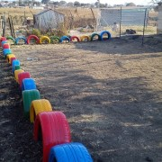 Site cleared and tyres painted in Krundel Park (South Africa)