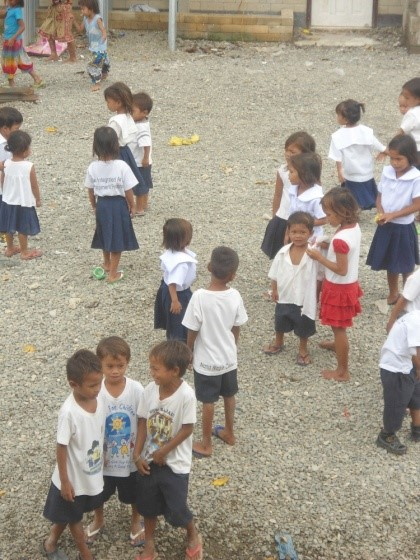Badjao students waiting for their morning class