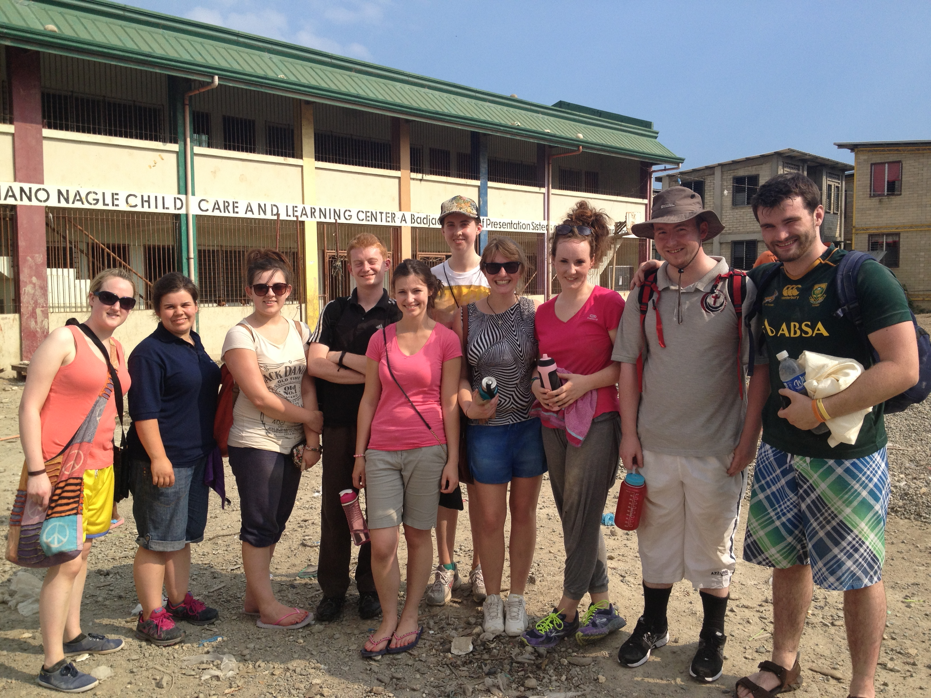 SERVE Volunteers outside the Nano Nagle Learning Centre